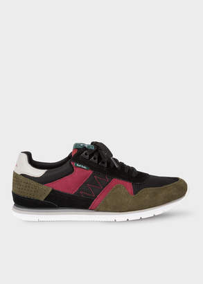 Paul Smith Men's Khaki And Burgundy 'Vinny' Trainers With Suede Panels