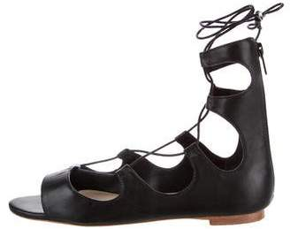 Loeffler Randall Leather Lace-Up Sandals