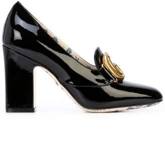Gucci Double G block heel pumps