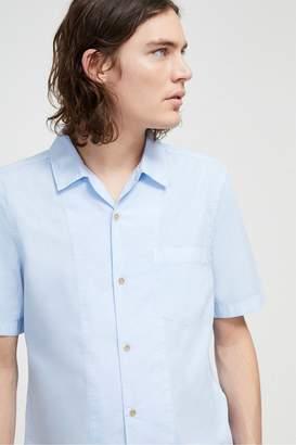 French Connenction Garment Dye Poplin Short Sleeve Shirt