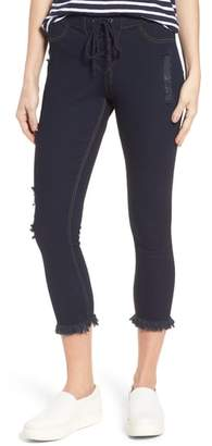 Hue Shipwrecked Lace-Up Denim Skimmer Leggings