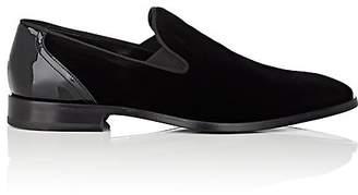 Barneys New York Men's Velvet & Patent Leather Venetian Loafers