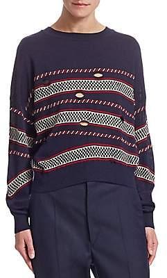 48f3c24cec38db Etoile Isabel Marant Women s Casey Striped Cutout Sweater