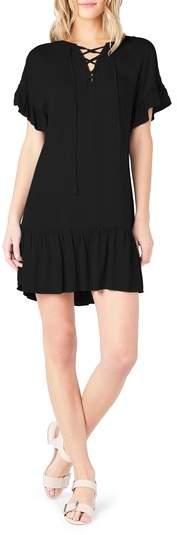 Ruffled Lace-Up Dresss