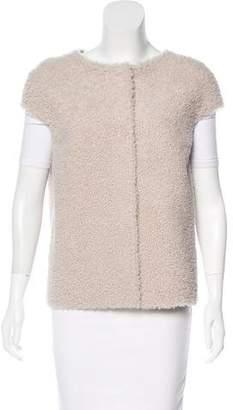 MICHAEL Michael Kors Shearling Crew Neck Vest