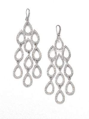 ABS by Allen Schwartz Pave Chandelier Earrings