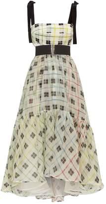 Silvia Tcherassi Silk Check Dress
