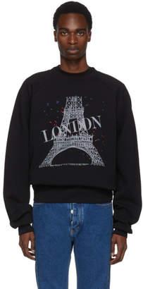 Balenciaga Black Eiffel London Feel Fine Sweatshirt