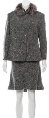 Rena Lange Wool-Blend Knee-Length Skirt Suit