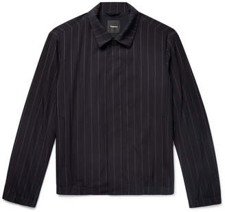 Theory Pinstriped Wool-Blend Jacket