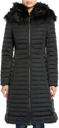 Hunter Refined Puffer Coat w/ Faux Fur Hood
