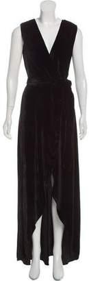 Alice + Olivia Simmons Velvet Wrap Dress w/ Tags