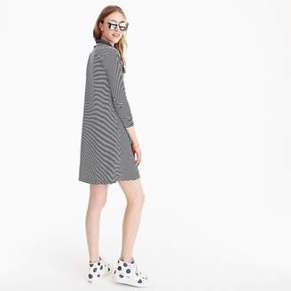 J.Crew Swingy long-sleeve dress in stripe