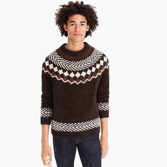 J.Crew Yoked Fair Isle crewneck sweater
