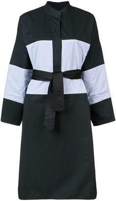 Tome belted contrast shirt dress
