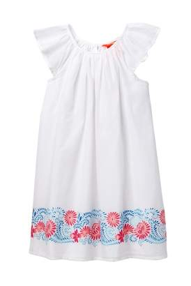 Joe Fresh Border Print Dress (Toddler & Little Girls)