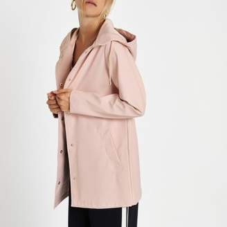 River Island Light pink waterproof hooded rain mac