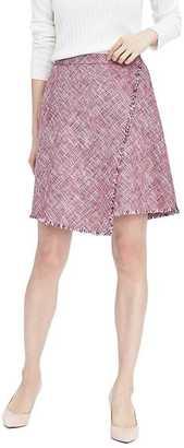 Fringe Pink Tweed A-Line Skirt $88 thestylecure.com