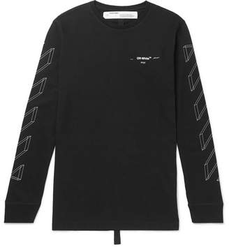 Off-White Off White Logo-Print Cotton-Jersey T-Shirt - Men - Black
