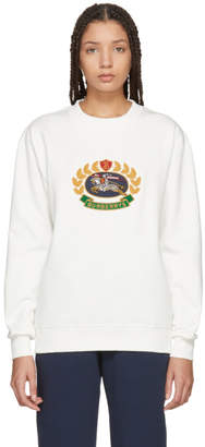 Burberry Off-White Crest Sweatshirt