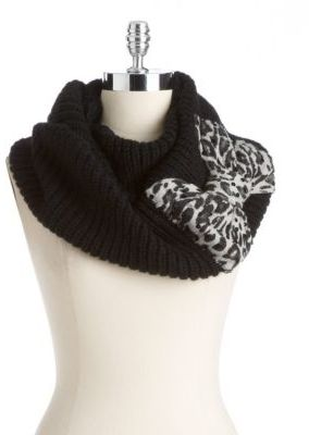 Betsey Johnson Leopard Bow Infinity Scarf