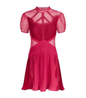 Self-Portrait Panelled Lace Mini Dress
