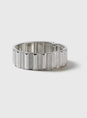 Evans Silver Glitter Stretch Bracelet