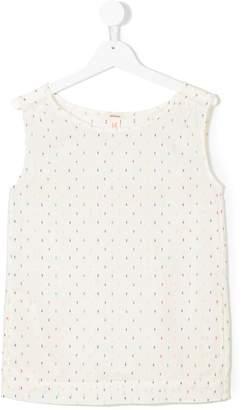 Bellerose Kids embroidered geometric pattern blouse