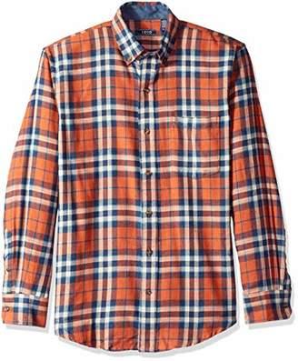 Izod Men's Big LS Flannel Plaid