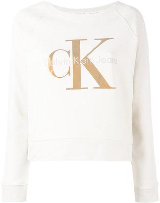 Calvin Klein Jeans metallic logo print sweatshirt $98.95 thestylecure.com