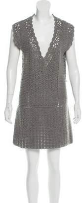 Diane von Furstenberg Sleeveless Wool Mini Dress