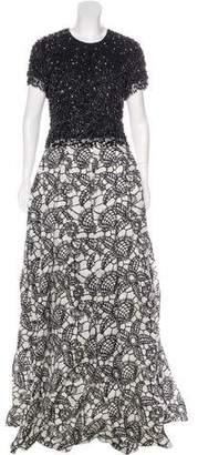 Naeem Khan Silk Embellished Gown w/ Tags