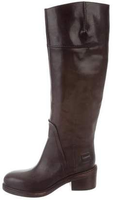 CNC Costume National Leather Riding Boots