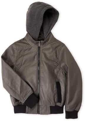 Urban Republic Boys 8-20) Hooded Faux Leather Jacket