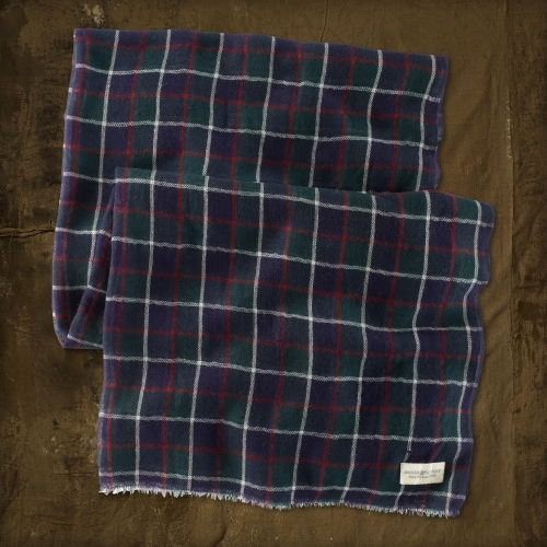 Denim & Supply Ralph Lauren Plaid Wool Gauze Scarf