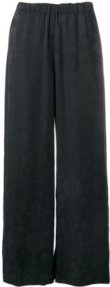 Raquel Allegra Damast embroidered trousers