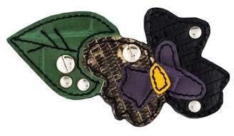 Prada Patch Pansy Leather Brooch