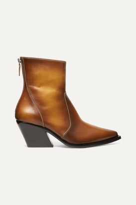 Givenchy Leather Ankle Boots - Tan