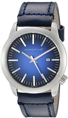 Momentum Men's Quartz Watch | Logic 42 by | Stainless Steel Watches for Men | Sports Watch with Japanese Movement & Analog Display | Water Resistant Watch with Date – / Leather