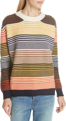&Daughter Inver Stripe Ribbed Wool & Cashmere Sweater