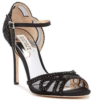 Badgley Mischka Embellished Mesh Stiletto Heel Sandal