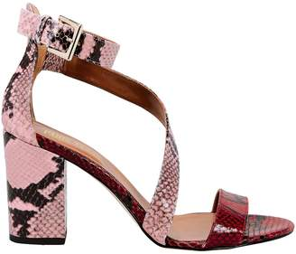 Paris Texas Snakeskin Embossed Sandals