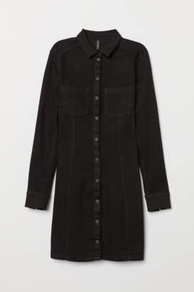 H&M Fitted Shirt Dress - Black