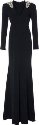 Jenny Packham Calypso Embellished Long Sleeve Dress