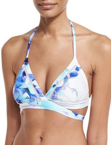 6 Shore Road by Pooja La Playa Wrap Bikini Top, White Columbia Floral