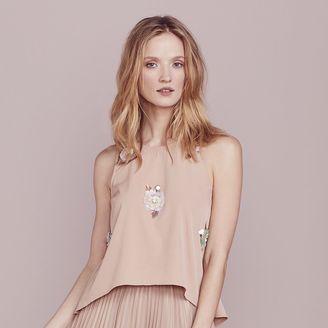 LC Lauren Conrad Dress Up Shop Collection Floral Paillette Top - Women's $54 thestylecure.com