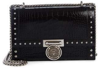 Balmain Stud Leather Box Shoulder Bag