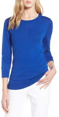 Halogen Cotton Blend Pullover