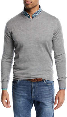 Peter Millar Wool-Blend V-Neck Sweater