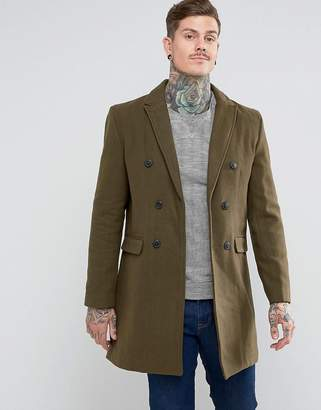 Bellfield Double Breasted Wool Mix Jacket